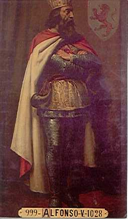 Миниатюра из Испанской королевской библиотеки. Король Альфонсо V.