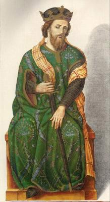 Миниатюра из Испанской королевской библиотеки. Король Фруела II (910 г.).