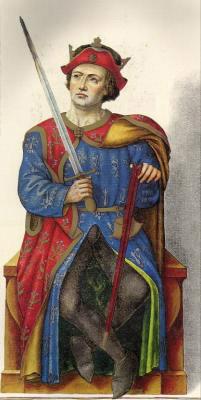 Миниатюра из Испанской королевской библиотеки. Король Ордоньо III (950 г.).