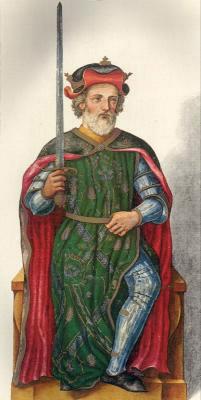 Миниатюра из Испанской королевской библиотеки. Король Рамиро II.