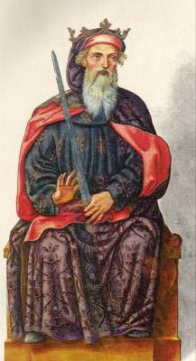 Миниатюра из Испанской королевской библиотеки. Король Вермудо I (789 г.)