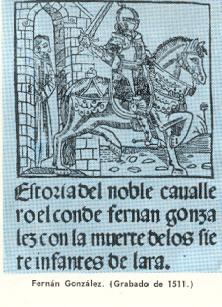 Граф Фернан Гонсалес. Гравюра 1511 г.